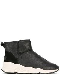 Zapatillas Slip-on de Cuero Negras de Ash