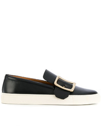 Zapatillas Slip-on de Cuero Negras de Bally