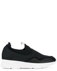 Zapatillas Slip-on de Cuero Negras de Blumarine