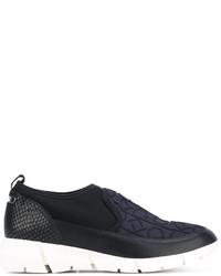 Zapatillas Slip-on de Cuero Negras de Calvin Klein