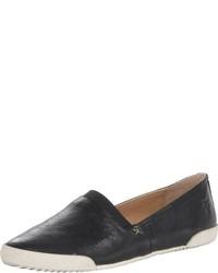 Zapatillas Slip-on de Cuero Negras de Frye