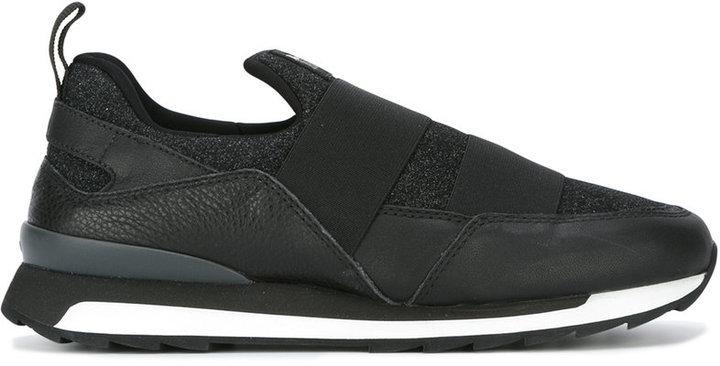 Zapatillas Slip-on de Cuero Negras de Hogan