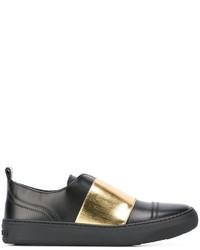 Zapatillas Slip-on de Cuero Negras de Jimmy Choo