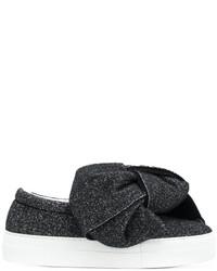 Zapatillas slip-on de cuero negras de Joshua Sanders