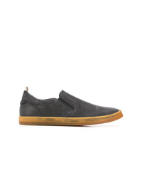 Zapatillas slip-on de cuero negras de Officine Creative