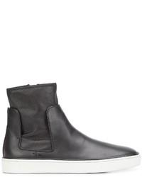 Zapatillas Slip-on de Cuero Negras de Santoni