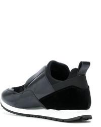 Zapatillas slip-on de cuero negras de Tod's