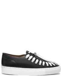Zapatillas Slip-on de Cuero Negras de Swear