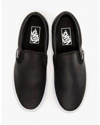 Zapatillas Slip,on de Cuero Negras de Vans