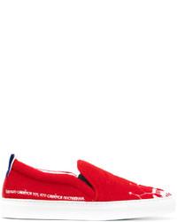 Zapatillas Slip-on de Cuero Rojas de Joshua Sanders