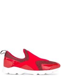 Zapatillas Slip-on de Cuero Rojas de MM6 MAISON MARGIELA