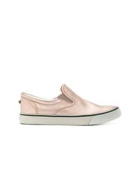 Zapatillas slip-on de cuero rosadas de Diesel