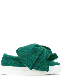 Zapatillas Slip-on de Cuero Verdes de Joshua Sanders