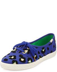 Zapatillas Slip-on de Leopardo Azul Marino