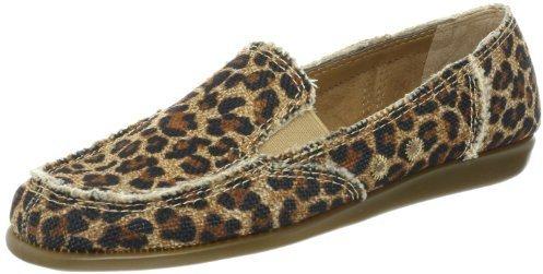 Zapatillas slip-on de leopardo marrón claro de Aerosoles