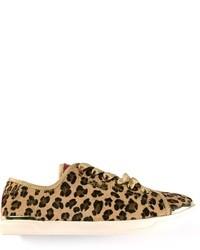 Zapatillas slip-on de leopardo marrón claro de DKNY