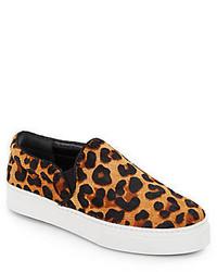 Zapatillas Slip-on de Leopardo Marrónes de Schutz