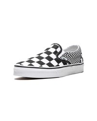 b3a04c3ba ... Zapatillas slip-on de lona a cuadros en negro y blanco de Vans
