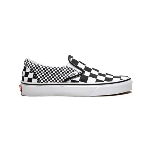00674f517 ... Zapatillas slip-on de lona a cuadros en negro y blanco de Vans ...