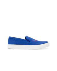Zapatillas slip-on de lona azules de Kenzo