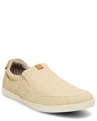 Zapatillas slip-on de lona en beige