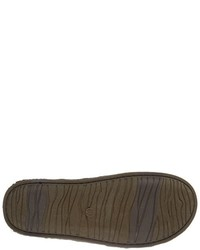 Zapatillas slip-on de lona en gris oscuro de Crevo