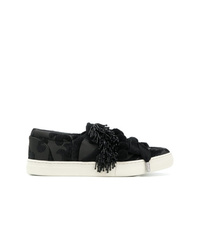 Zapatillas slip-on de lona negras de Marc Jacobs