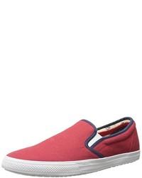 Zapatillas slip-on de lona rojas de Ben Sherman