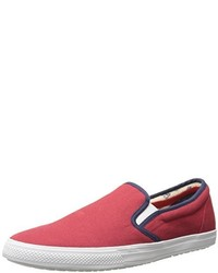 Zapatillas slip-on de lona rojas de Ben Sherman