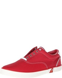 Zapatillas slip-on de lona rojas de GBX