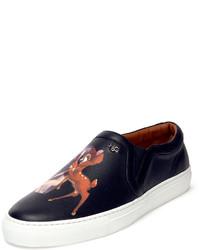 Zapatillas slip-on estampadas negras