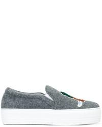 Zapatillas slip-on grises de Joshua Sanders