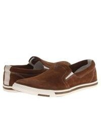 Zapatillas slip on marrones original 9744766