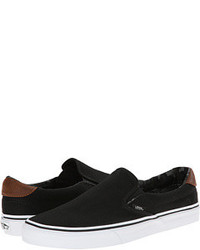 Zapatillas slip on negras original 9744681