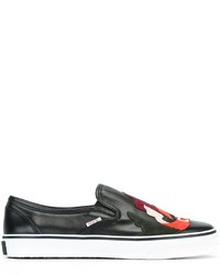 Zapatillas slip-on negras de RED Valentino