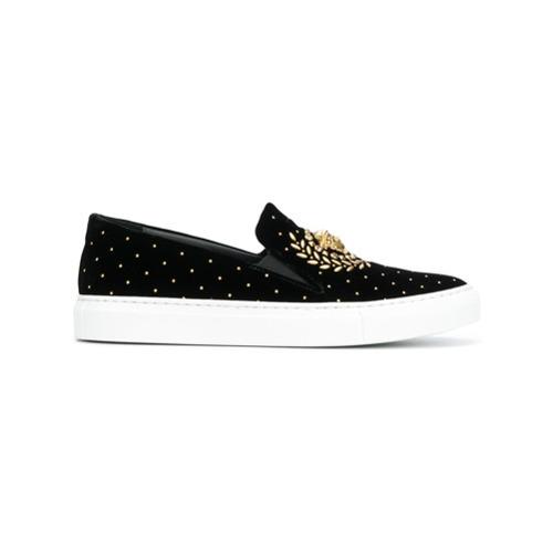 Zapatillas slip-on negras de Versace