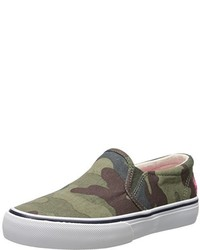 Zapatillas verde oliva de Polo Ralph Lauren Kids