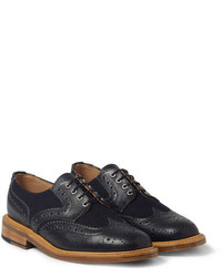 Zapatos brogue azul marino