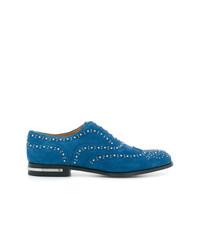 Zapatos brogue de ante azules de Church's