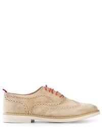 Zapatos brogue de ante en beige