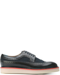 Zapatos Brogue de Cuero Azul Marino de Paul Smith