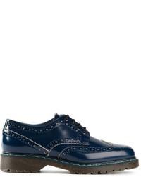 Zapatos brogue de cuero azules