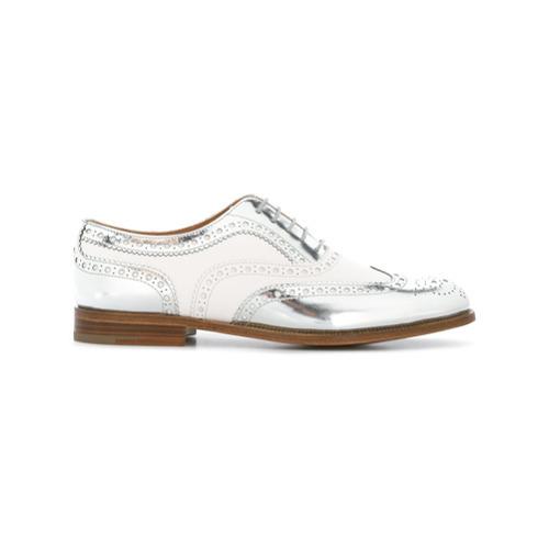 Zapatos brogue de cuero blancos de Church's