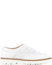 Zapatos Brogue de Cuero Blancos de Hogan