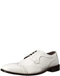 Zapatos Brogue de Cuero Blancos de Stacy Adams