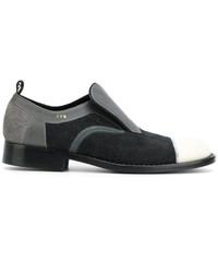 Zapatos Brogue de Cuero en Gris Oscuro de Comme des Garcons
