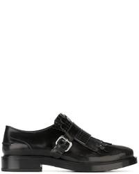 Zapatos brogue de cuero en gris oscuro de Tod's