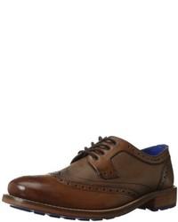 Zapatos brogue de cuero en marrón oscuro de Ted Baker
