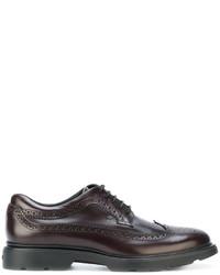 Zapatos Brogue de Cuero Marrón Oscuro de Hogan