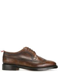 Zapatos brogue de cuero marrónes de Thom Browne